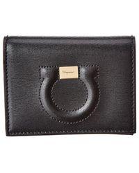 Ferragamo - City Quilted Gancio Leather Wallet - Lyst