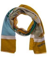 Hermès - Yellow Cabana Xl Scarf - Lyst