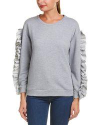 Alythea - Ruffled Sweatshirt - Lyst