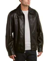 Brooks Brothers - Leather Bomber Jacket - Lyst