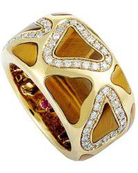 Roberto Coin 18k 0.42 Ct. Tw. Diamond Tiger's Eye Ring - Metallic