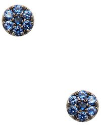 Meira T - 14k Plated .16 Ct. Tw. Black & Blue Sapphire Studs. - Lyst