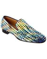 4e50c7d852f Christian Louboutin Dandelion Spikes Loafer in Green for Men - Lyst
