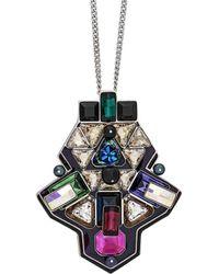 Swarovski - Crystal Buzz Plated Necklace - Lyst