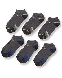 Reebok - Knit Stripe Low Cut Socks (6 Pack) - Lyst