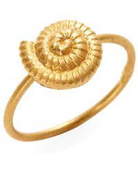 Valentino - Snail Shell Charm Midi Ring - Lyst