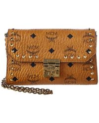 MCM - Patricia Studded Outline Visetos Flap Crossbody - Lyst