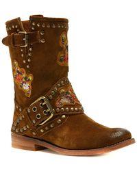Frye - Women's Nat Flower Engineer Boots - Lyst