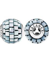 PANDORA Essence Collection Silver Mother-of-pearl Greyish Blue Mosaic Balance Charm