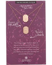 Dogeared - Ancient Moon Rising 14k Rose Gold Over Silver Necklace - Lyst