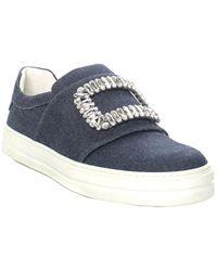 Roger Vivier - Blue Denim Slip-on Sneaker (size 38, Never Worn) - Lyst