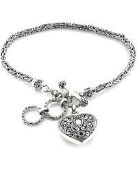 Samuel B. - Silver Heart Toggle Bracelet - Lyst