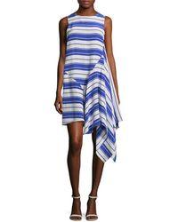 WHIT - Lulu Asymmetric Flared Dress - Lyst