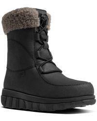 Fitflop - Women's Loaff Waterproof Leather Boot - Lyst