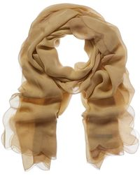 Valentino - Scalloped-trim Silk Scarf - Lyst
