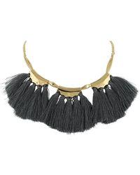 Sparkling Sage - 14k Plated Tassel Necklace - Lyst