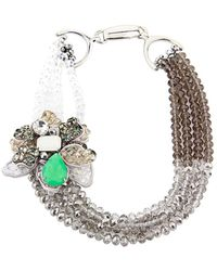 Saachi - Plated 3d Flower Necklace - Lyst