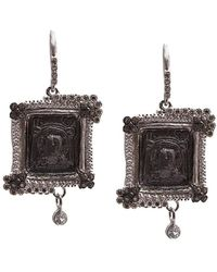 Armenta - New World Silver 2.44 Ct. Tw. Diamond & Sapphire Earrings - Lyst
