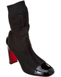 Christian Louboutin - Taco Sock 85 Knit Boot - Lyst