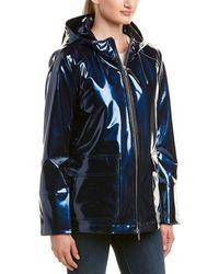 Jane Post - Shine Waterproof Slicker - Blue - Lyst