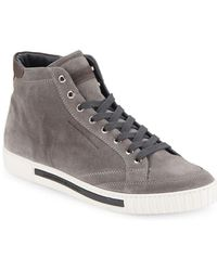 Alessandro Dell'acqua - Alessandro Dell Acqua Suede High-top Trainer - Lyst