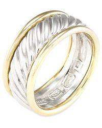 David Yurman - David Yurman Cable 14k & Silver Ring - Lyst
