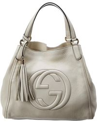 Gucci - White Leather Soho Bag - Lyst