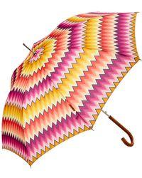 Missoni - Valentina Zig Zag Automatic Umbrella - Lyst