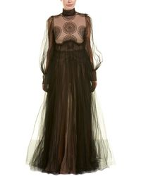 Valentino - Tulle Silk Gown - Lyst