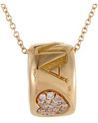 Pasquale Bruni - Amore18k Rose Gold 0.14 Ct. Tw. Diamond & Ruby Necklace - Lyst