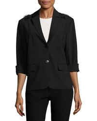 Tibi - Shrunken Notch Lapel Blazer - Lyst