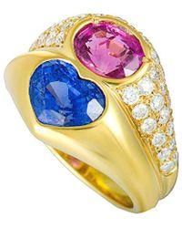 BVLGARI - Bulgari 18k 5.14 Ct. Tw. Diamond & Sapphire Ring - Lyst