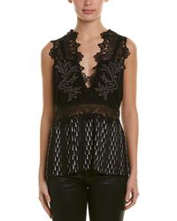Yigal Azrouël - Studded Leather-trim Top - Lyst
