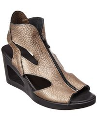 Arche - Vahiro Leather Wedge Sandal - Lyst