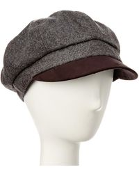 August Accessories - August Hat Company Grey Wool-blend Newsboy Hat - Lyst