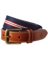 Brooks Brothers - Striped Leather Belt - Lyst