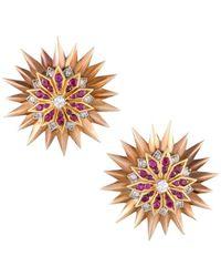 Heritage Tiffany & Co. - Tiffany & Co. 14k Two-tone Diamond & Ruby Brooch & Earrings Set - Lyst
