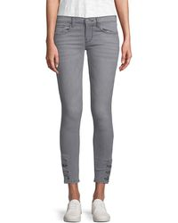Etienne Marcel - Buttoned Ankle Skinny Pant - Lyst
