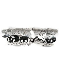 Bernard Delettrez - Articulated Skulls Silver Ring - Lyst
