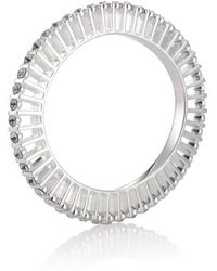 Yael Salomon - Ella 10 Silver And Crystal Bangle - Lyst