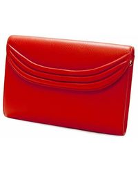 Lauren Cecchi New York | Red Stretta Leather Shoulder Bag | Lyst