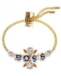 "Bijoux De Famille   ""boss"" Small Cabochons Chain Bracelet   Lyst"