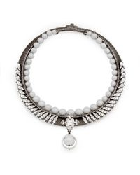 Ellen Conde - Michele Grey Necklace - Lyst
