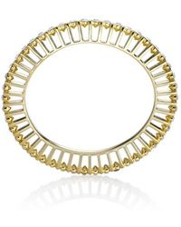 Yael Salomon - Ella 10 Gold And Crystal Bangle - Lyst
