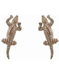 Bernard Delettrez | Bronze Crocodile Earrings | Lyst