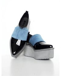 Jamie Wei Huang - Joe Leather And Fur Oxford Shoes - Lyst