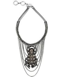 Forest Of Chintz - Swinging Scarab Necklace - Lyst