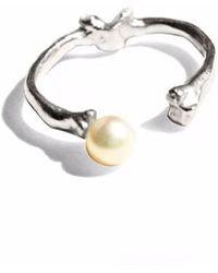 Ayaka Nishi   Pearl Bone Knuckle Ring   Lyst