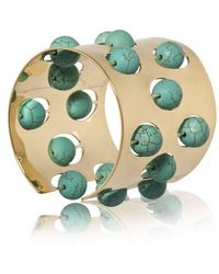 Yael Salomon - Greta 04 Gold And Turquoise Cuff - Lyst