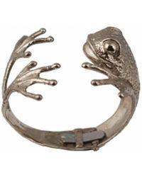 Bernard Delettrez - Bronze Frog Cuff Bracelet - Lyst